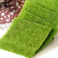 ingrosso nuovo tappeto artificiale-All'ingrosso-Nuovo Micro Paesaggio Decorazione fai da te Mini Fairy Garden Simulazione Piante artificiali Fake Moss Decorative Prato tappeto erboso Erba verde