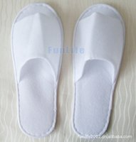 Wholesale Disposable Slippers For Hotels - Wholesale Disposable Hotel Towelling Slippers With EVA Sole Travel Spa Guest Shoes For summer spring autumn 50 pairs