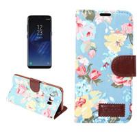 ingrosso jeans caso samsung-Custodia portafoglio in stoffa con motivo floreale per Jean Flip Custodia in pelle con supporto per scheda Slot per Iphone XR XS Max X 8 7 6 Plus Samsung Note 9 OPP