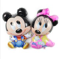 """Wholesale Micky Mouse Party - Big Size 36 """" Foil Balloons Micky Mouse Girl and Boy Option Best Gift for kids Wedding Birthday Party New Year Decoration"""
