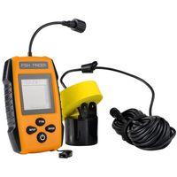 Wholesale Sonar Fish Detector - Free Shipping Fish Finder TL88 Sonar Wireless WaterProof Transducer 100M Depth With Large Display VS Fish Detectors Fishing Equipment
