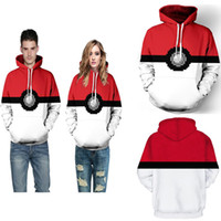 Wholesale elf hats - Free shipping 2017 New fashion clothes with hat Poke 3D casual Hoodies Elf Ball 3D printing for men women Clothing wholesale
