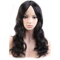 Curly black wig fancy dress - Synthetic Hair Wigs cm New Long Curly Wavy Black Synthetic Wig Women Ladies Fashion Cosplay Party Anime POP Fancy Dress Shiny Hair