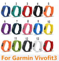 Wholesale Wristbands Wholesale Rubber - 500PCS Replacement Smart wrist rubber Band watchband Silicone Strap For Garmin Vivofit 3 Vivofit3 Wristband