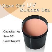 Wholesale Uv Builder Gel Kg - Art Nail Gel #801 CANNI Nail Extension Clear 1 kg Nail Gel Builder Camouflage UV Gel