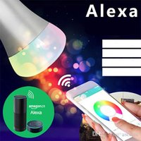 Wholesale Home Works - Smart Remote Control WiFi Smart Bulb Work with echo Alexa Googlehome RGB Color E26 E27 Home Automation Lighting Bulb color changing led bulb