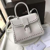 Wholesale Camel Hand Bag - 37 Colors White Color Hand Bag Shoulder Bag Handmade Brand Bags Top Quality Luxury Women Fashion Delvaux Brillant Bag
