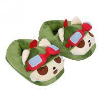Wholesale Cartoon Ladies Shoes - Wholesale-Cute Women Lady Family Winter Warm Cartoon Eye Indoor Home Shoes