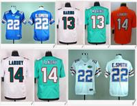 Wholesale Miami Embroidery - Florida Gators #22 Emmitt Smith American College Football Stitched Embroidery Elite Miami #13 Dan Marino 14 Jarvis Landry Mens Sport Jerseys