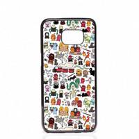 samsung s5 mini al por mayor-Harry Potter Doodle Cubiertas del teléfono conchas Cajas de plástico duro para Samsung Galaxy S4 S5 MINI S6 borde S8 S8 Plus
