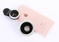 Wholesale Microscope Photos - Wholesale- Clip 0.6X Wide Angle Lens, 15X Microscope Lens Cell Phone Camera Photo Lens For Lenovo Vibe A,alcatel Pixi 4 (5),Coolpad Max