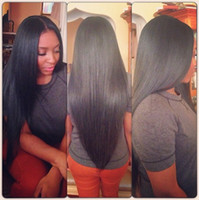 Wholesale Cheap Italian Lace Front Wigs - Cheap Yaki Straight Synthetic Lace Front Wigs   None Lace Wig Light Italian Yaki Synthetic wigs Wigs Heat Resistant Glueless For Black Women