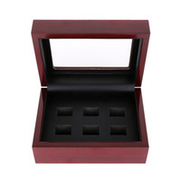 Wholesale Wood Rings Jewelry - Solid Wooden Boxes Championship Ring Display Case Wooden Boxs Rings Position (2 3 4 5 6 )Holes To Choose Rings Boxes B005
