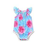 Wholesale infant tutu jumpers resale online - 2017 INS babies rompers baby girl floral jumpsuit kids one piece jumper summer toddler clothes child infant cute clothing