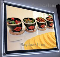 Wholesale Restaurant Menu Boards - Wholesale- A2 Black Border Acrylic Frame LED Menu Panel Wall Mounted Crystal Frame LED Menu Light box,LED Menu Boards for Restaurant