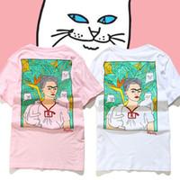 adam kadın karikatür toptan satış-Tops Tees Ripndip Efendisi Nermal T-Shirt Erkek Kadın Yüksek Kaliteli Pamuk O-Boyun Kısa Kollu Moda Karikatür Kedi Ripndip T-shirt