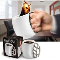 Wholesale beer boxes wholesale - Ceramic Mug Creative Personality Boxing Coffee Beer Drinking Cup Bar Novelty Gift Fisti Mugs Simple Style Hot 10 8zf FY