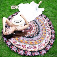 Wholesale Microfiber Blanket Soft - Mandara Beach Towel Women Soft Large Sunscreen Shawl Picnic Blanket Yoga Mat Microfiber Table Cloth Home Decor 18sh J R