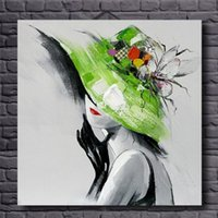 Wholesale Modern Figure Sexy Abstract - Framed Abstract Beautiful Woman Sexy,Pure Hand Painted Modern Wall Decor Portrait Art Oil Painting On Canvas.Multi Sizes Available al-TOPE