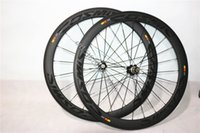 Wholesale Carbon Road Wheels Clincher Set - High Quality Chinese Carbon Wheels 50mm Cosmic SLR Clincher Road Bike Wheels 700C Carbon Wheelset Powerway R36 hubs
