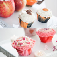 Wholesale Colorful Cupcake Cups - Silicone Cupcake Liners Camouflage Colorful Muffin Cups Round Shaped Cake Baking Molds Jelly Mold IB564