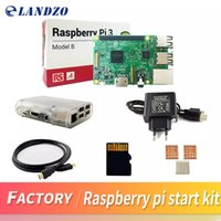 Wholesale Computers Power Case - Raspberry Pi 3 Model B Starter Kit with Pi 3 Board+16G memory card+HDMI cable+EU Power+Heatsinks+Transparent Raspberry pi 3 case in computer