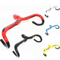 Full Carbon Fiber Road Bicycle Integrated Carbon Handlebar com 28,6 mm de diâmetro do caule Carbon Road Handlebar Bike Parts