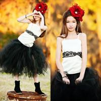 Wholesale Sexy Little Children - Sexy Children Images Vestidos de Primera Communion Cheap White Black Flower Girl Dresses 2017 Pageant Dresses for Little Girls