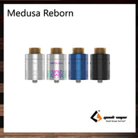 Wholesale Access Building - GeekVape Medusa Reborn RDTA 3.5ml Capacity Quick Access System Upgraded Build Deck Gold Plated Bottom Feeding Pin Included 100% Original