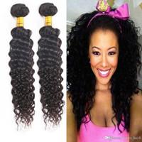 mocha dokuma saç toptan satış-8A mocha Saç mağaza ucuz Brezilyalı Bohemian Saç Curl Örgü Demetleri satıyor 8A işlenmemiş brazillian kıvırcık saç örgü demetleri 3,4,5 adet / grup