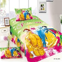 Wholesale White Twin Sheets - Wholesale- fairy legendary princess girls bedding set 2 3pcs duvet cover bed sheet pillow case twin single bed linen set
