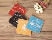 Wholesale Vintage Cup Holder - Wholesale- LINKWELL Set of 4 10x10cm Vintage Authentic Pacific Soul Anchor PU Leather Round Bar Coaster Table Cup Holder Drink Placemat Mat