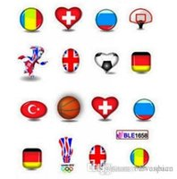 Wholesale Nail Stickers Flags - WHOLESALE 11 PCS SET WATER DECAL NAIL ART NAIL STICKERS OLYMPIC GAME NATIONAL FLAGS AND OTHER MEDELS STICKERS FREE SHIPPING