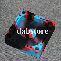 Wholesale Shipping Ashtray - Top Eco-friendly Portable Ashtrays Square Soft Cigarette Ashtray Shatterproof Silicone Ashtray Smoking Accessories by Free Shipping