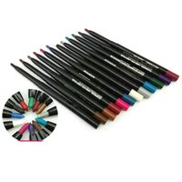 Wholesale Pen Brush Line - Makeup Eye Shadow Liner Combination pencil   Labial line pen multi-purpose cosmetic brush 12 color sets MR174