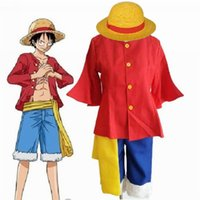 Wholesale Luffy Years After - Kukucos Anime ONE PIECE 2nd Generation Monkey D Luffy Cosplay Costume After 2 years Halloween Party Dress Up