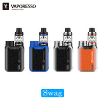Wholesale Multi Technologies - Authentic Vaporesso Swag Starter Kit with 80w TC Box Mod and 3.5ml NRG SE Tank   2ml NRG SE Mini Atomizer Adopted IML Technology