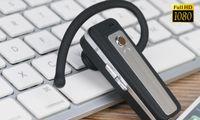 ingrosso mini registratore vocale bluetooth-1080P Bluetooth Headset Camera Bluetooth Auricolare DVR Videocamera Full HD mini Videocamera mini Voice Recorder Cuffie mini DV V22