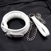 Wholesale Collar S For Adults - Sex Neck Collar with Chain Adult Sexy Game Fetish Bondage Set S&M Sex Toy Adult Products Bdsm Bondage Restraint Gear for Women