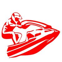 Wholesale Decal Motorcycle Racing - Wholesale 10pcs lot Water Sports Jetski Racing Car Sticker for Motorhome Motorcycles Laptop Canoe Car Decor Vinyl Decal