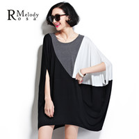 Wholesale Loose Fitting Tops For Women - Wholesale-BelineRosa Women Tops Women Tee-Shirts Loose Cotton Women's Big Plus Tunic for Ladies Fit 3XL~ 5XL 6XL DS0019