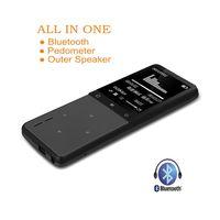 Wholesale Waterproof Watch Speaker - Wholesale- ONN W8 Lossless Digital Hifi Flac Audio Sport Mp 3 Mini Music Mp3 Player Bluetooth With Headphones Speaker Screen Radio FM 8GB