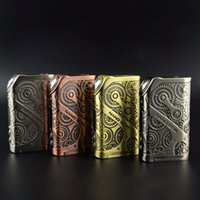 Wholesale Original Tesla Nano W Teslacigs Nano Box TC Mode with Thread Steampunk Series Vapor E Cigarette DHL Free