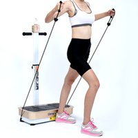 Wholesale vibration plate power slimer Health Slimming fit massage body slimmer vibration machine one motors oscillaiton With stand tubes and handle
