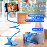 Wholesale Cheap Mobile Accessories - Mobile phone stand computer stand desktop shelf lazy bedside stand computer phone accessories strong clip 360 degree rotation cheap gift DHL