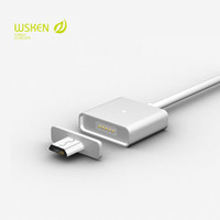Wholesale Lenovo Original Phone - Original Wsken Metal Magnetic Cable Data Charger Cable For Micro USB Phone Samsung Huawei Xiaomi Lenovo (with 2 micro adapters)