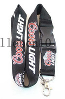 Wholesale hot new coors light drinks lanyard strap detachable Keychain badge holder MP3 charm DS Lite