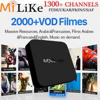 Wholesale Arabic Iptv Wholesale - QHDTV arabic IPTV,MXQ 4K android 5.1 Rockchip RK3229 QuadCore WIFI Airplay Miracast MXQ-4K 1GB 8GB sky DE italian UK French DHLfree