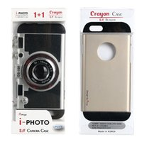 Wholesale I Phone Fashion Case - Creative cell phone case cover for apple iphone 6S 7 plus i-photo camera case-s hybrid fashion new silicone TPU case with retail package