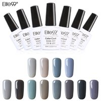 Wholesale Soak Off Uv Gel 12 - Elite99 New Style 1pcs Nail Gel Polish Soak Off Gel 10ml Long Lasting UV Gel Colorful Polishes Nair Art 12 Gray Colors Choose